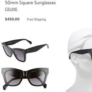 Black CELINE cat eye sunglasses